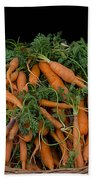 Basket Of Carrots Beach Towel
