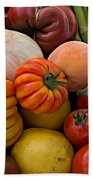 Basket Of Fruits And Vegetables Beach Towel