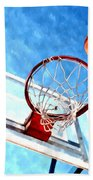 Basketball Hoop And Ball 1 Beach Towel