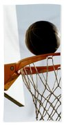Basketball Hoop And Ball Beach Towel
