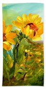 Basking In The Sun Beach Towel by Barbara Pirkle
