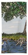 Bass Fishing In The Stumps Beach Towel