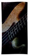 Bass Guitar Beach Towel