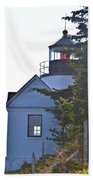 Bass Harbor Headlight Beach Towel