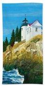 Bass Harbor Lighthouse Beach Towel