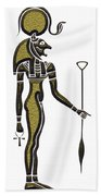 Bastet - Goddess Of Ancient Egypt Beach Towel