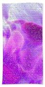 Bathed In Purple Beach Towel