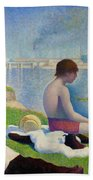 Bathers In Asnieres Beach Towel