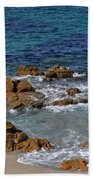 Bathing In The Sea - La Coruna Beach Towel by Mary Machare