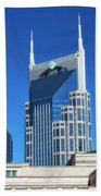 Batman Building And Nashville Skyline Beach Towel