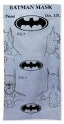 Batman Mask Patent Beach Towel