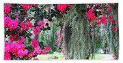 Baton Rouge Louisiana Crepe Myrtle And Moss At Capitol Park Beach Towel