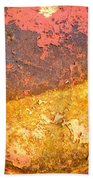 Battered To Rust Beach Towel