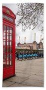 Battersea Phone Box Beach Towel
