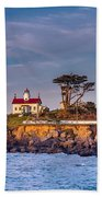 Battery Point Lighthouse Morning Beach Towel