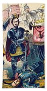 Battle Of Bosworth, Henry Vii Crowning Beach Towel