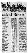 Battle Of Bunker Hill Beach Towel