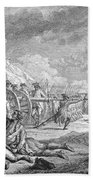 Battle Of Lexington, April 19th 1775, From Recueil Destampes By Nicholas Ponce, Engraved Beach Towel