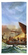 Battle Of Salamis Beach Towel
