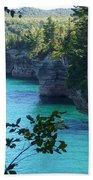 Battleship Row Pictured Rocks National Lakeshore Beach Towel