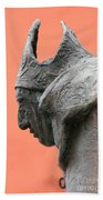 Bavarian Statue Beach Towel
