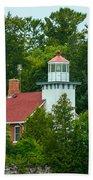 Bay Of Green Bay Lighthouse Beach Towel
