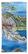 Bay View In Oregon Beach Towel
