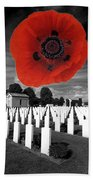Bayeaux Cemetry  Beach Towel