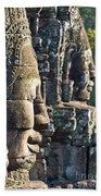 Bayon Faces - Angkor Wat - Cambodia Beach Towel