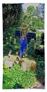Bayou Crow Scarecrow At Bellingrath Gardens Beach Towel