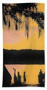 Bayou Sunset Beach Towel