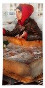 Bazaar - I Sell Fish  Beach Towel