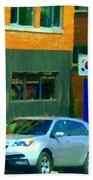 Bbq Coreen Korean Resto Cavendish St Jacques Montreal Summer Cafe City Scene Carole Spandau Beach Towel