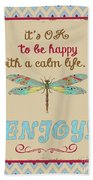 Be Happy Beach Towel