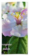 Be Yourself Flower Beach Towel
