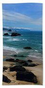 Beach At Ecola State Park Beach Towel