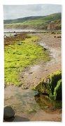 Beach At Robin Hoods Bay Beach Towel by Deborah Benbrook