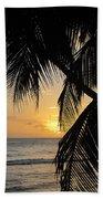 Beach At Sunset 1 Beach Towel