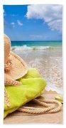 Beach Bag With Sun Hat Beach Towel