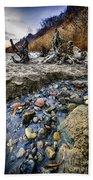 Beach Brook At Scarborough Bluffs Beach Towel by Elena Elisseeva
