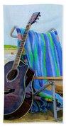 Beach Guitar Beach Towel