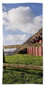 Beach Huts At Branscombe Beach Towel