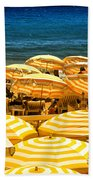 Beach In Cannes  Beach Towel by Elena Elisseeva
