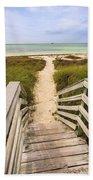 Beach Path Beach Towel by Adam Romanowicz