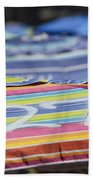 Beach Umbrella Rainbow 4 Beach Towel