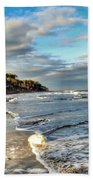 Beach Walk In Winter Beach Towel