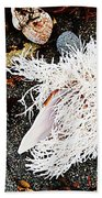 Beach Wares - Shells - Feather Beach Towel