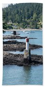 Beacon At Snug Cove Beach Towel
