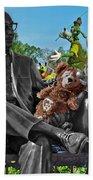 Bear And His Mentors Walt Disney World 03 Beach Towel