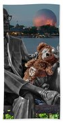 Bear And His Mentors Walt Disney World 05 Beach Towel